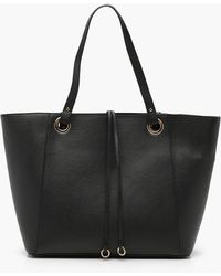 Boohoo - Teagan Structured Crosshatch Tote - Lyst
