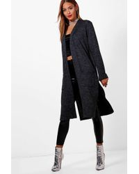 Boohoo | Holly Split Side Pocket Front Cardigan | Lyst