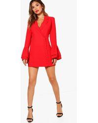 Boohoo - Boutique Taylor Button Through Tuxedo Dress - Lyst