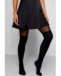 Boohoo - Over The Knee Tights - Lyst