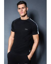Boohoo - Active Gym Raglan T-shirt With Back Print - Lyst