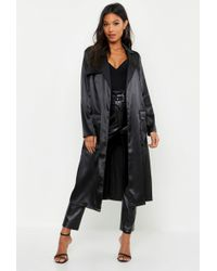 306239d452d Lyst - Women s Boohoo Raincoats and trench coats Online Sale