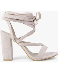 Boohoo - Wrap Strap Two Part Block Heels - Lyst