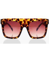 Boohoo - Faye Oversized Square Plastic Sunglasses - Lyst