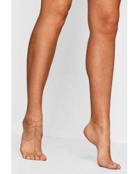 Boohoo - Multi Chain Foot Harness - Lyst