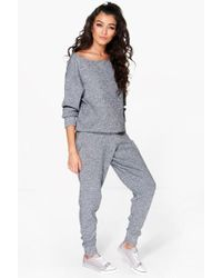 Boohoo | Boutique Faith Heavy Knitted Loungewear Set | Lyst