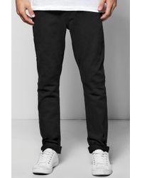 Boohoo - Slim Stretch Black Jeans - Lyst