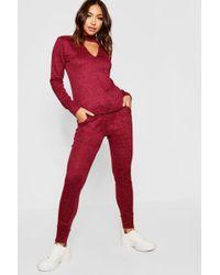 Boohoo - Choker Knitted Loungewear Set - Lyst