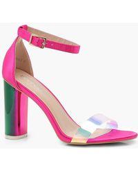 Zoe Iridescent Strap Block Heels fQifCxV