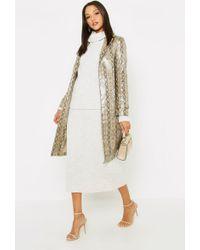 c44f0751e87 Boohoo Petite Imogen Halter Neck Top Maxi Skirt Co-ord in Black - Lyst
