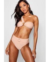 Boohoo - Ring Detail One Shoulder Bikini - Lyst