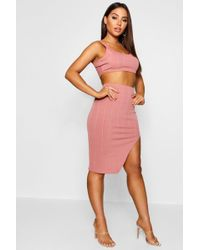 Boohoo - Bandage Skirt And Crop Top Co-ord Set - Lyst