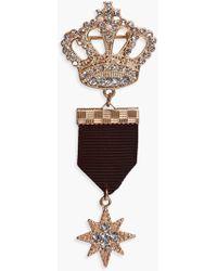 Boohoo - Emma Crown & Star Military Pin Badge - Lyst