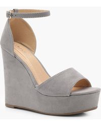 Boohoo - High 2 Part Wedges - Lyst