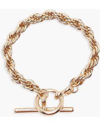 Boohoo - Chunky Chain T Bar Bracelet - Lyst