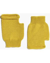 Boohoo - Lois Fingerless Soft Knit Mittens - Lyst