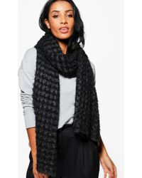 Boohoo - Sadie Supersoft Mixed Yarn Knitted Scarf - Lyst