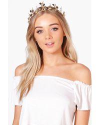 Boohoo - Faye Boutique Leaf Detail Head Crown - Lyst