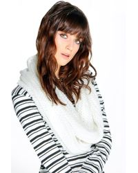 Boohoo - Imogen Knitted Snood - Lyst
