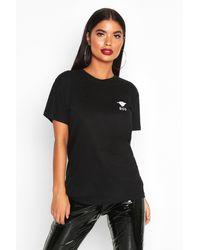 Boohoo Womens Petite Boo Slogan Halloween T-shirt - Black - S