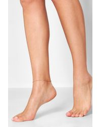 Boohoo - Simple Chain Anklet - Lyst