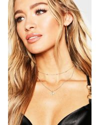 Boohoo - Bee Choker Chain Layered Necklace - Lyst