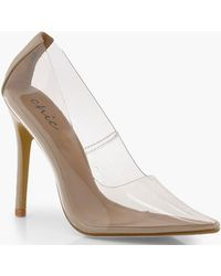 da85ed5b5a7 Lyst - Boohoo Platform Pointed Court Shoes in Natural