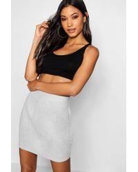 Boohoo - Harper Bandage Contrast Wrap Mini Skirt - Lyst