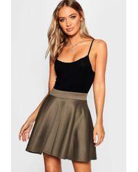 Boohoo - Scuba Full Skater Mini Skirt - Lyst 8a3dca47a