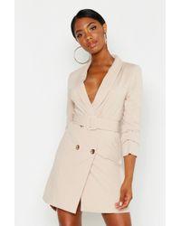 a744696a5fc8f Lyst - TOPSHOP Sleeveless Blazer Dress in Pink