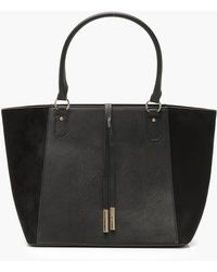 Boohoo - Suedette Wings Structured Tote - Lyst