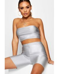 Boohoo - High Shine Cycling Shorts - Lyst