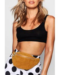 Boohoo - Suedette Bumbag - Lyst