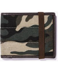 Boohoo - Camo Wallet With Elastic Fastening - Lyst