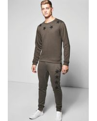 Boohoo - Star Embroidered Tracksuit - Lyst