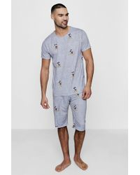 Boohoo - Disney Mickey Mouse Pyjama Set - Lyst