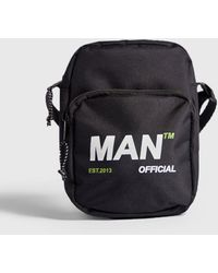 3c79fe87e9be Lyst - BoohooMAN Mini Man Branded Cross Body Bag in Black for Men