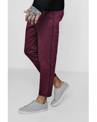 Boohoo - Woven Jogger Style Chino With Piping - Lyst