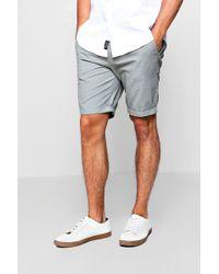Boohoo - Skinny Fit Chino Shorts - Lyst
