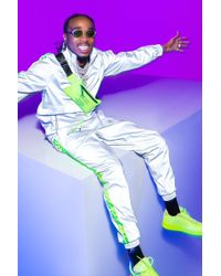 BoohooMAN - Quavo Reflective Jogger With Neon Tape - Lyst