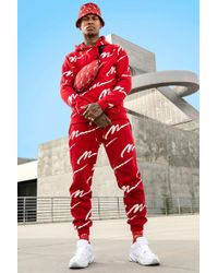 BoohooMAN - All Over Man Print Hooded Tracksuit - Lyst
