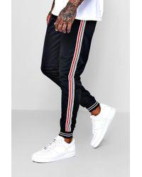 BoohooMAN - Side Stripe Cuffed Jersey Jogger - Lyst