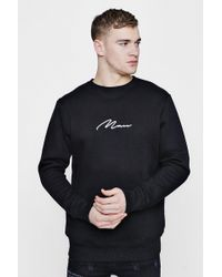 Boohoo - Man Signature Embroidered Sweater - Lyst