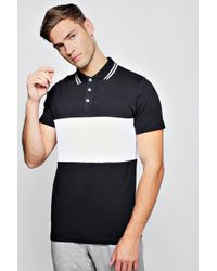 BoohooMAN - Short Sleeve Colour Block Polo With Tipping - Lyst