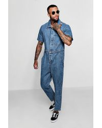 Boohoo - Short Sleeve Single Pocket Boiler Suit - Lyst