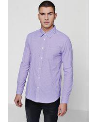 Boohoo - Long Sleeve Check Smart Shirt - Lyst