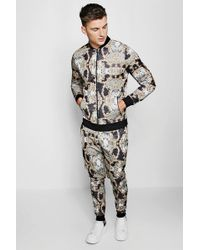 Boohoo - Bomber Baroque Tracksuit - Lyst