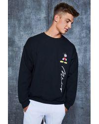 Boohoo - Disney Mickey Signature Oversized Jumper - Lyst