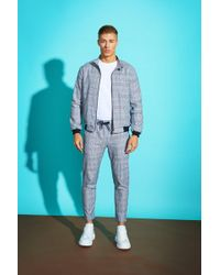 Boohoo - Prince Of Wales Check Smart Jogger - Lyst