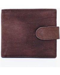 Boohoo - Genuine Leather Bifold Tab Wallet - Lyst